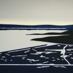 Lake 2013 170 x 120 cm, acryl op doek