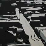 Silent City 50 x 40 cm, acryl op mdf