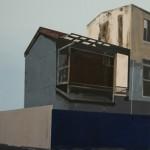 Silent City 50 x 70 cm, acryl op mdf