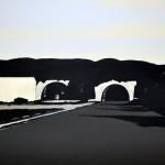 Tunnel 2013 100 x 80 cm, acryl op doek