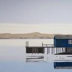 Lake (shelter) 2017 120 x 170 cm. acryl op doek